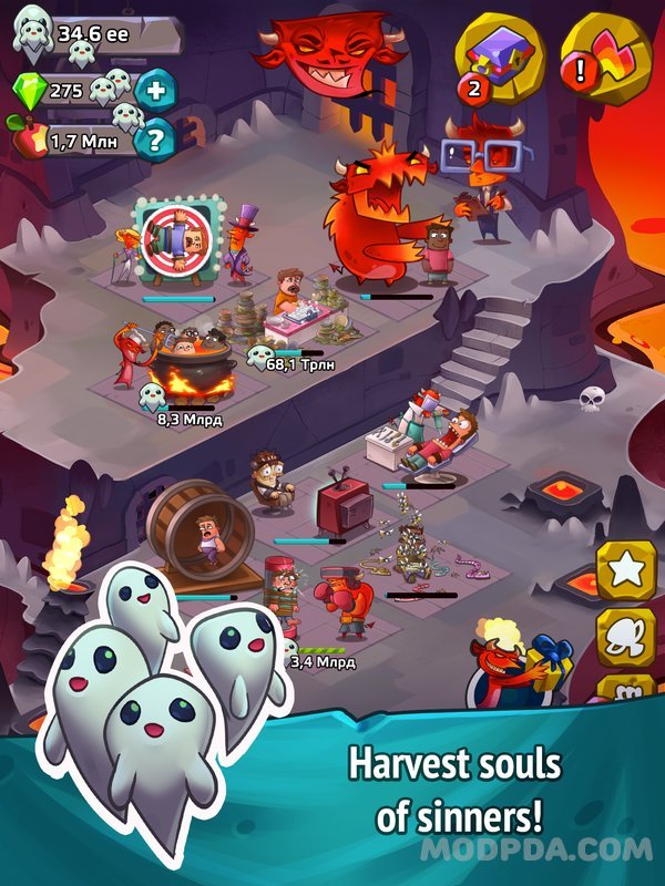Download Idle Hell Clicker Pro HACK/MOD Infinite Diamond for Android