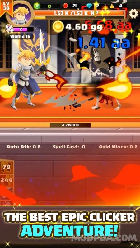 Download Clicker Knight: Incremental Idle RPG HACK/MOD