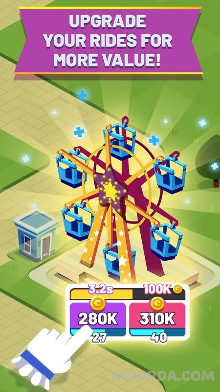 Download Idle Park! HACK/MOD Unlimited Money for Android