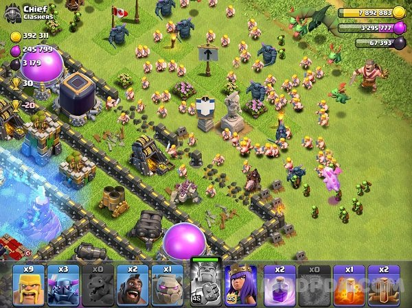 clash of clans version mod apk