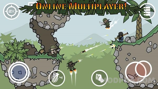 Download Doodle Army 2 : Mini Militia HACK/MOD unlocking for Android