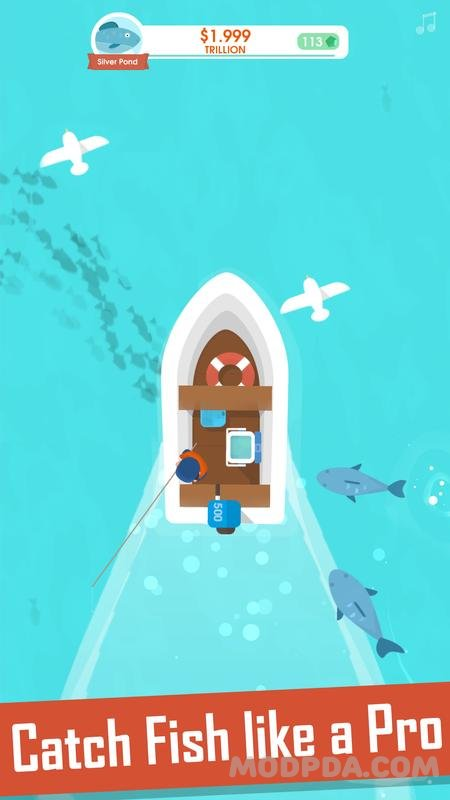 Download Hooked Inc: Fisher Tycoon HACK/MOD Money for Android