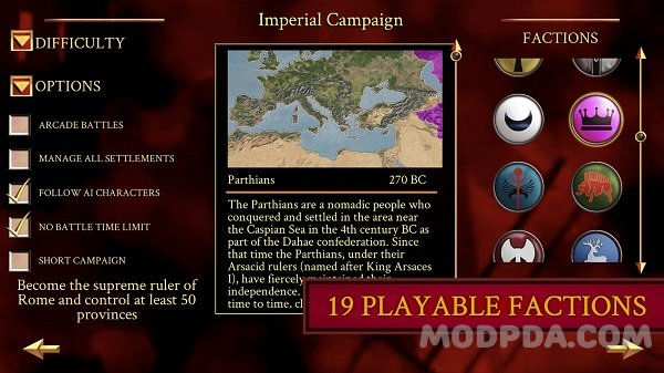 Download ROME: Total War HACK/MOD for Android