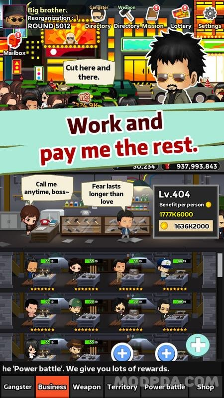 Download Idle Gangster HACK/MOD for Android