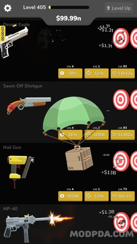 Download Gun Idle HACK/MOD Money for Android