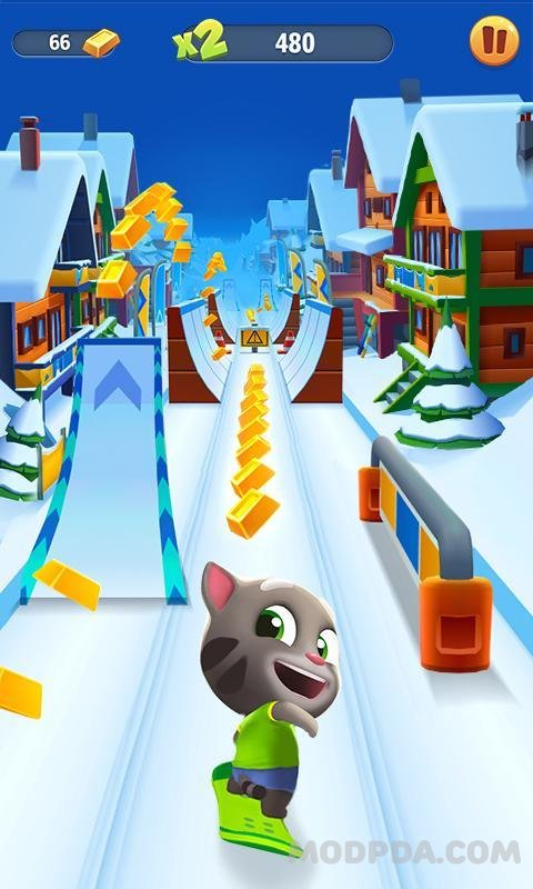 Download Talking Tom Gold Run HACK/MOD Money for Android