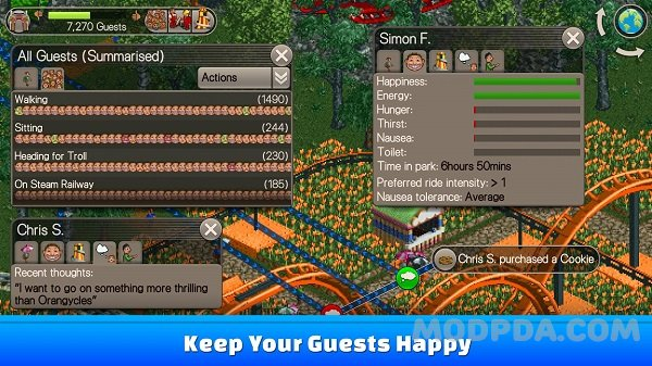 Download RollerCoaster Tycoon® Classic HACK/MOD Money for Android