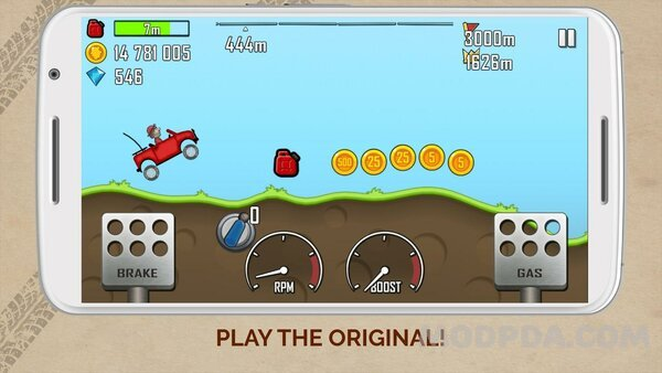 Download Hill Climb Racing HACK/MOD Money for Android