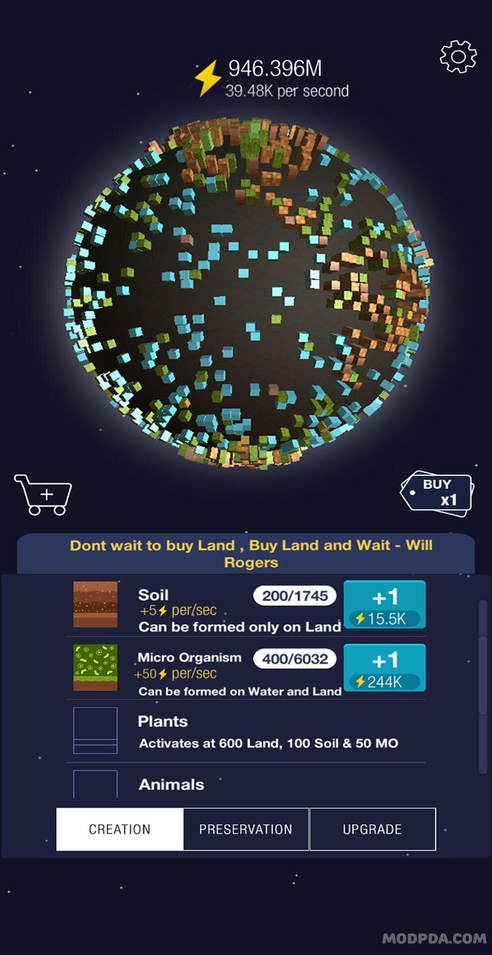 Download Idle World HACK/MOD Diamonds for Android
