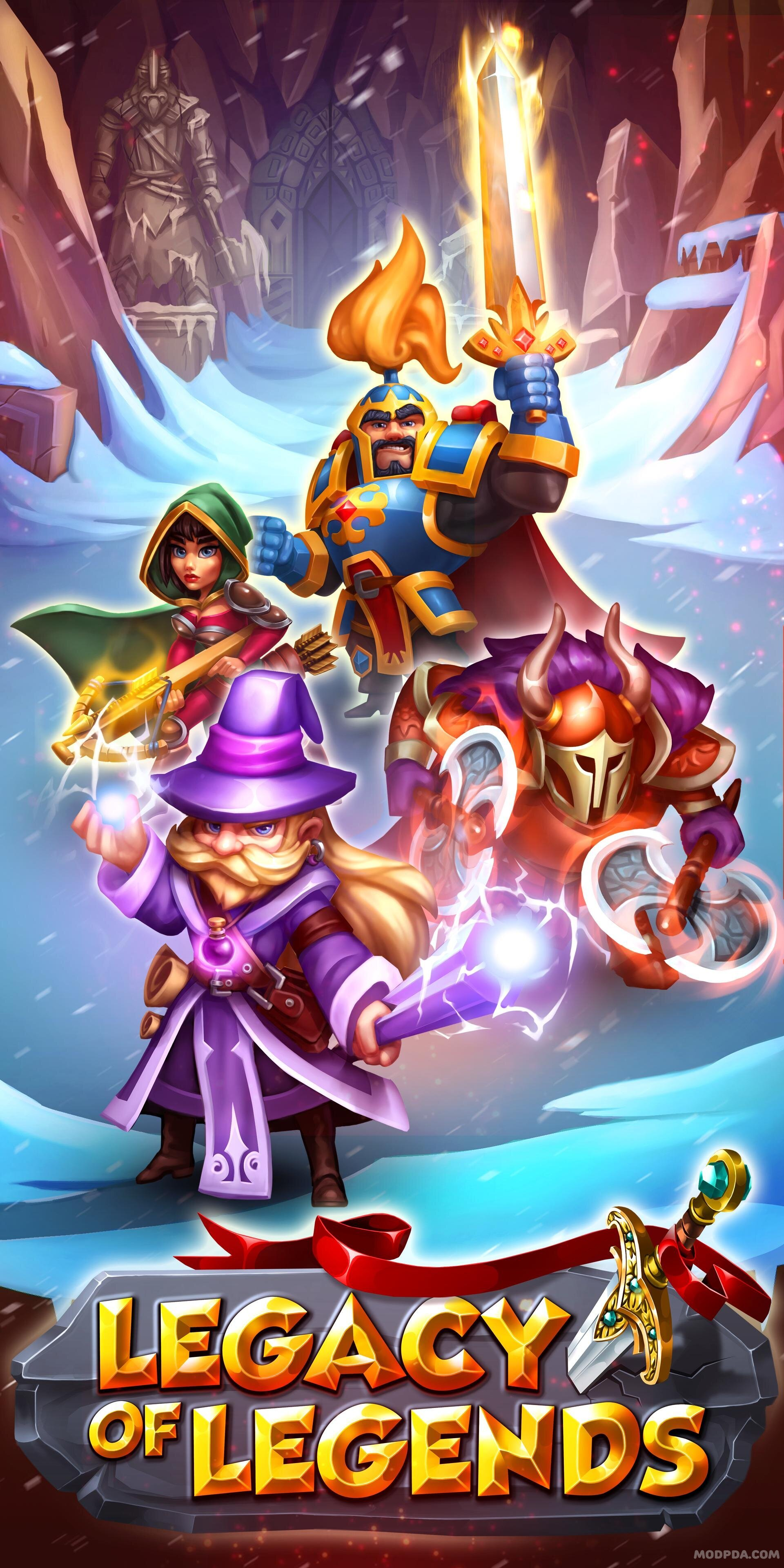 Download Legacy of Legends - Best Idle RPG HACK/MOD for Android