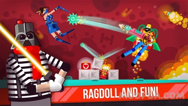 Download Ragdoll Rage: Heroes Arena HACK/MOD for Android