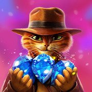 Indy Cat - Match 3 Puzzle Adventure [MOD: Many Bows] 1.0